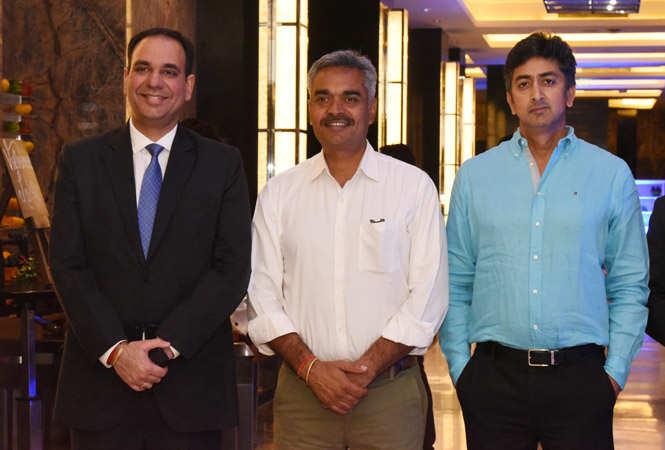 Vishvapreet Singh Cheema, General Manager, Crowne Plaza Jaipur, Yogendra Singh and Kunal Singh (2)