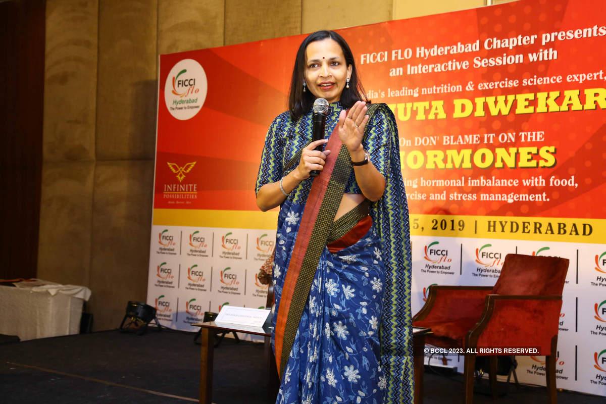 Celebrity nutritionist Rujuta Diwekar attends FICCI FLO