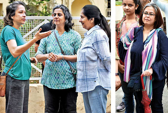(L) Dr Manjula Hansraj, Dr Alpana Lele and Suneeti Srivastava (R) Anumita Sharma (BCCL/ Farhan Ahmad Siddiqui)