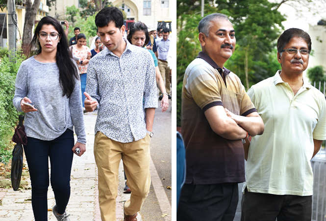 (L) Nitya Agarwal and Samir Kher (R) Vivek Sahai and Prof NK Pandey (BCCL/ Farhan Ahmad Siddiqui)