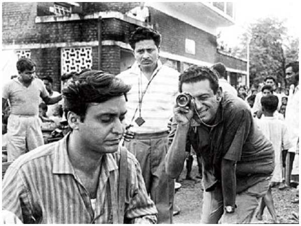 Soumitra Chatterjee with Satyajit Ray