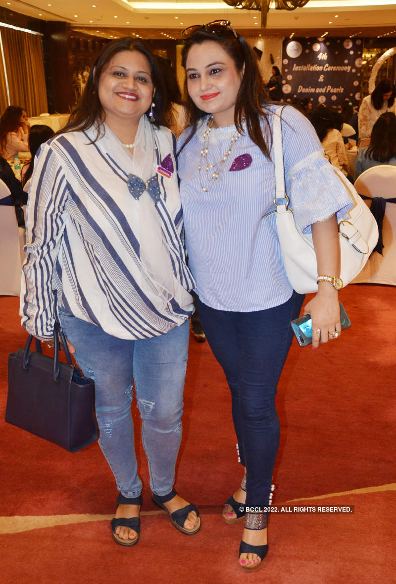 A denim and pearl theme party for Kanpur ladies