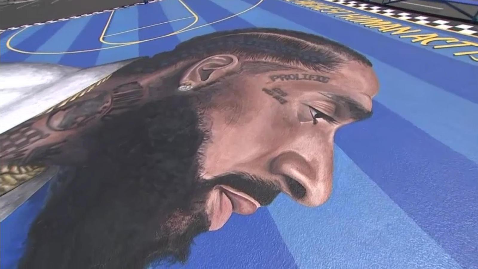 US: Nipsey Hussle street art breathes life into legacy