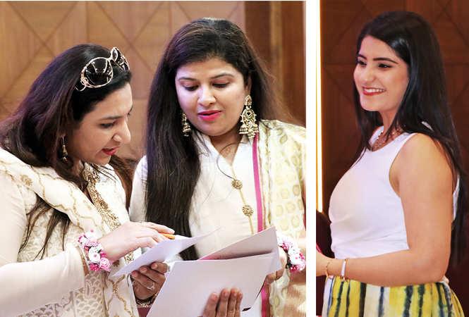 (L) Neeti Khosla and Sakshi Kapoor (R) Pratika (BCCL/ Unmesh Pandey)