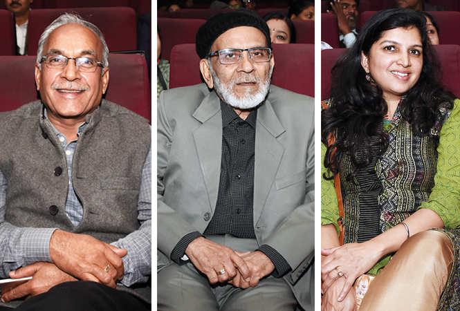 (L) Yadavendra Srivastava (C) Athar Nabi (R) Jyotsna Kaur Habibullah (BCCL/ Farhan Ahmad Siddiqui)