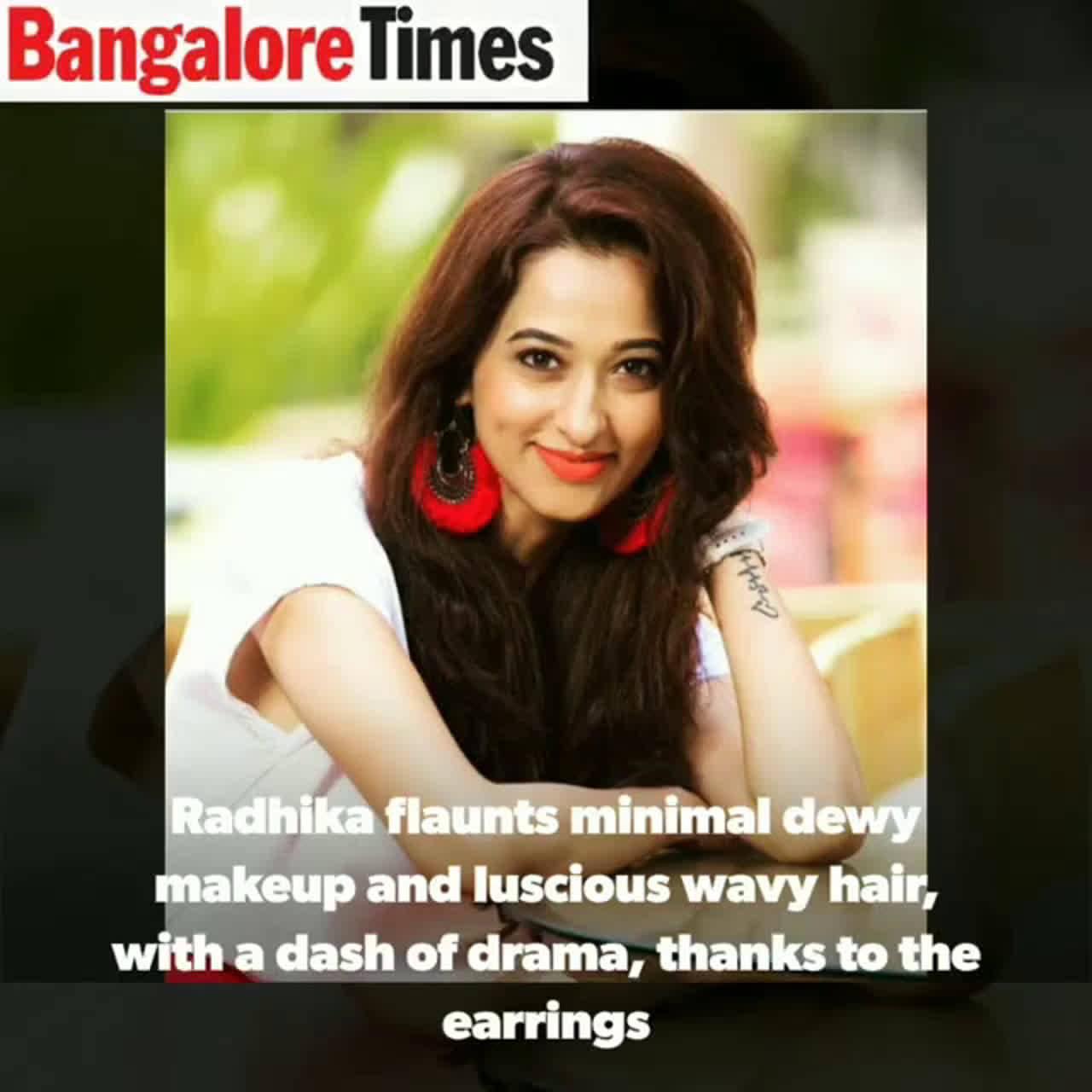 Radhika Narayan and Meghana Raj flaunt threaded fan-shaped earrings
