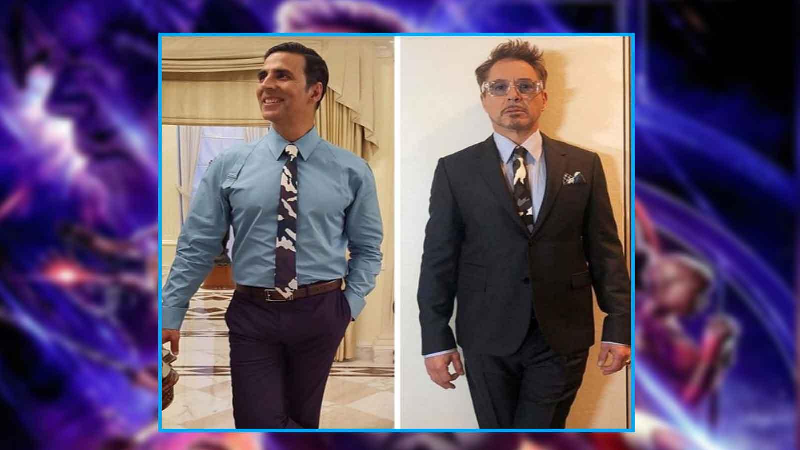 Akshay Kumar dons same tie as Robert Downey Jr aka Iron Man, asks fans 'who wore it better'