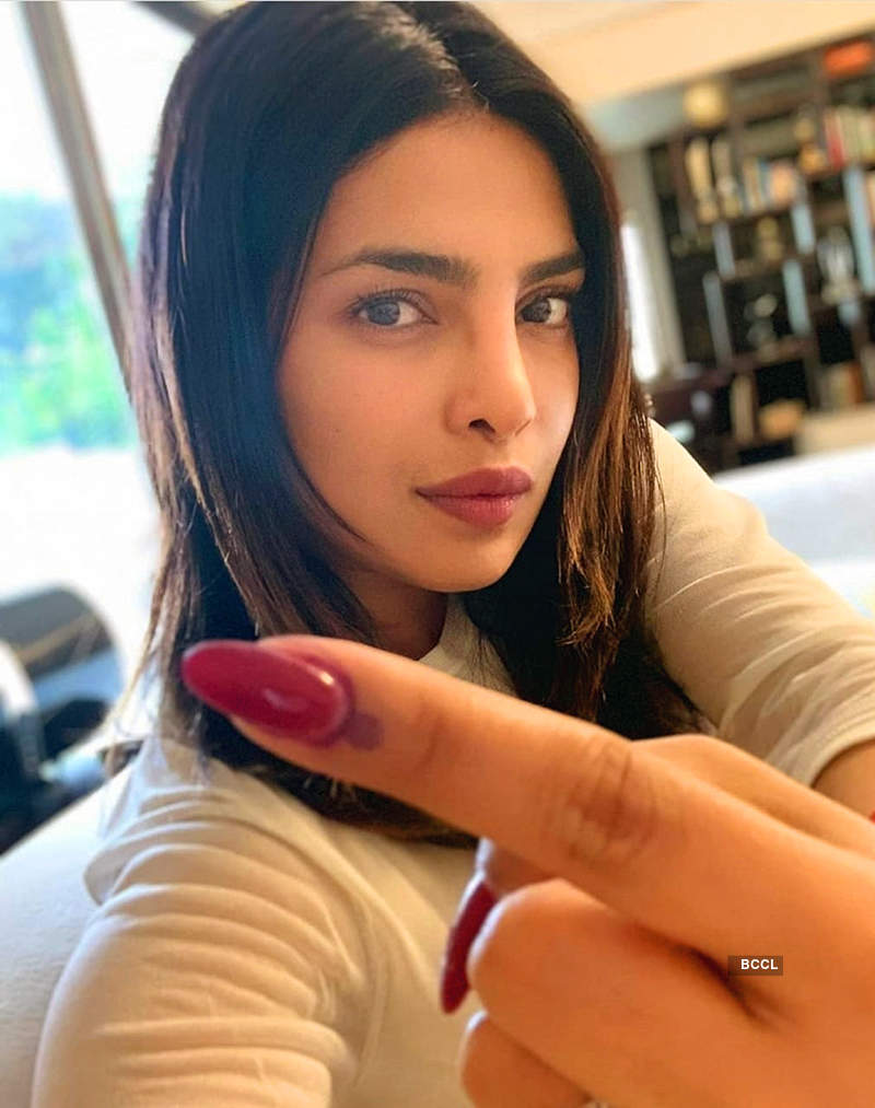 Shah Rukh Khan, Deepika Padukone, Anushka Sharma, Salman Khan & others cast their vote