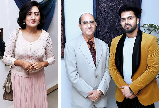 (L) Asma Hussain (R) Dr Anis Ansari and Divyanshu Rastogi (BCCL/ Vishnu Jaiswal)