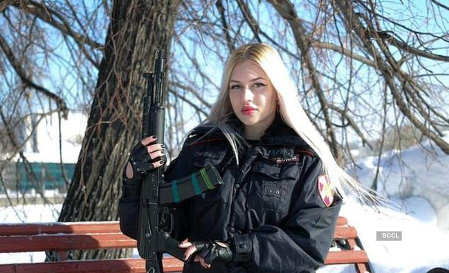 Russian guard voted as the most beautiful face