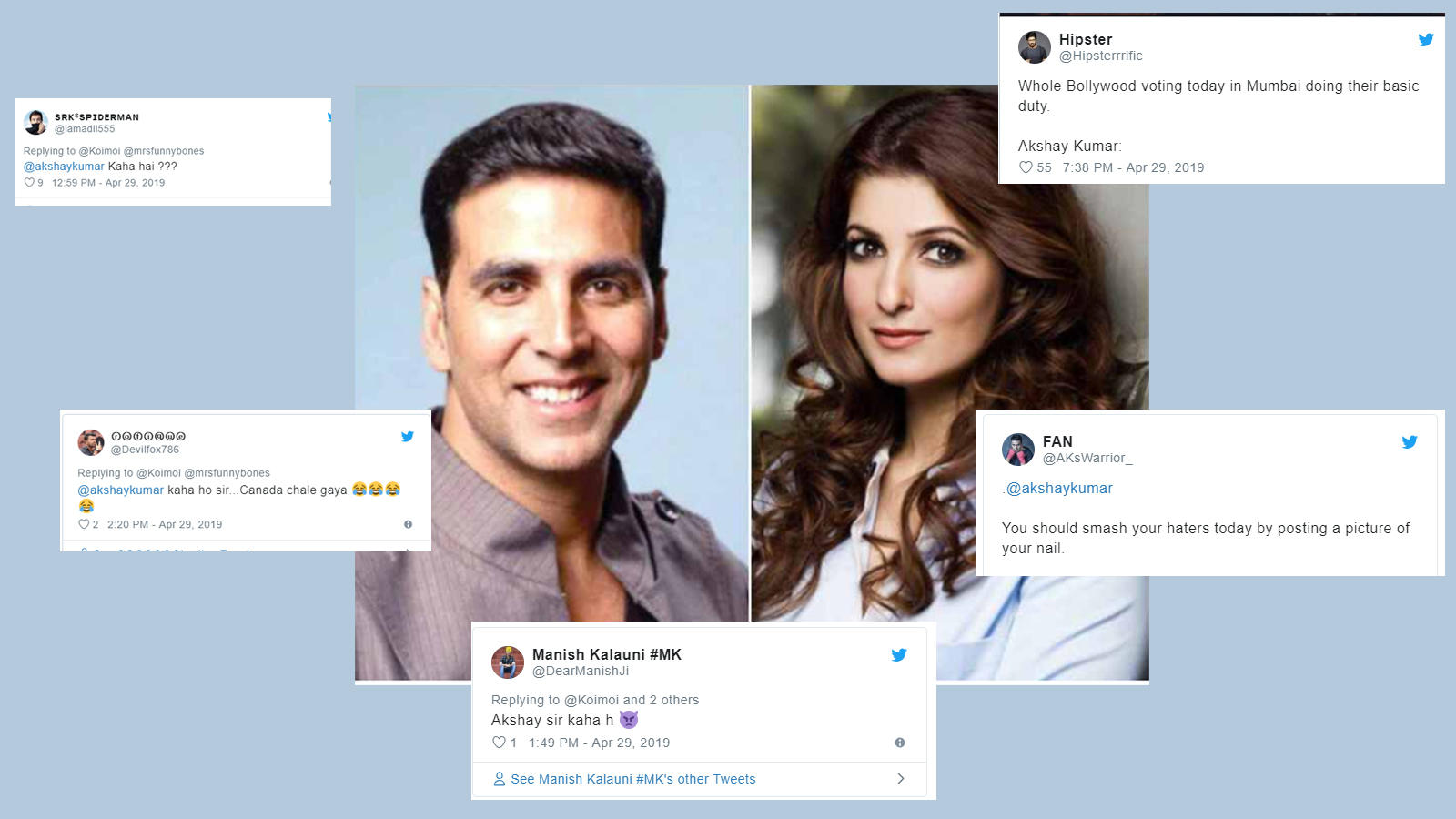 Trolls ask 'Where is Akshay Kumar?' after Twinkle Khanna casts her vote