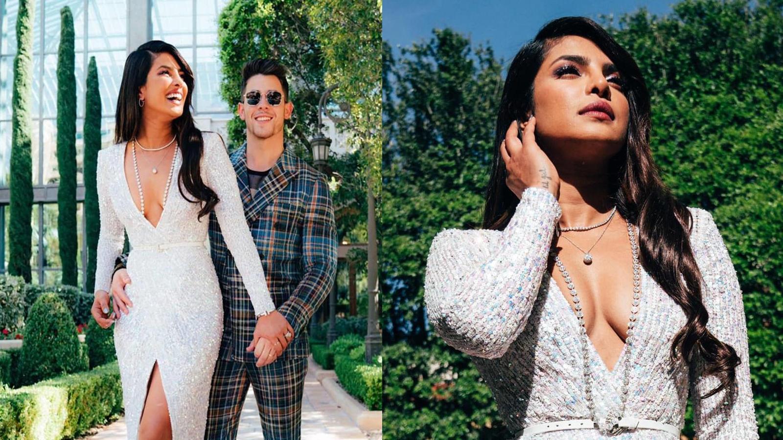 Priyanka Chopra cheers for hubby Nick Jonas as he performs at music awards