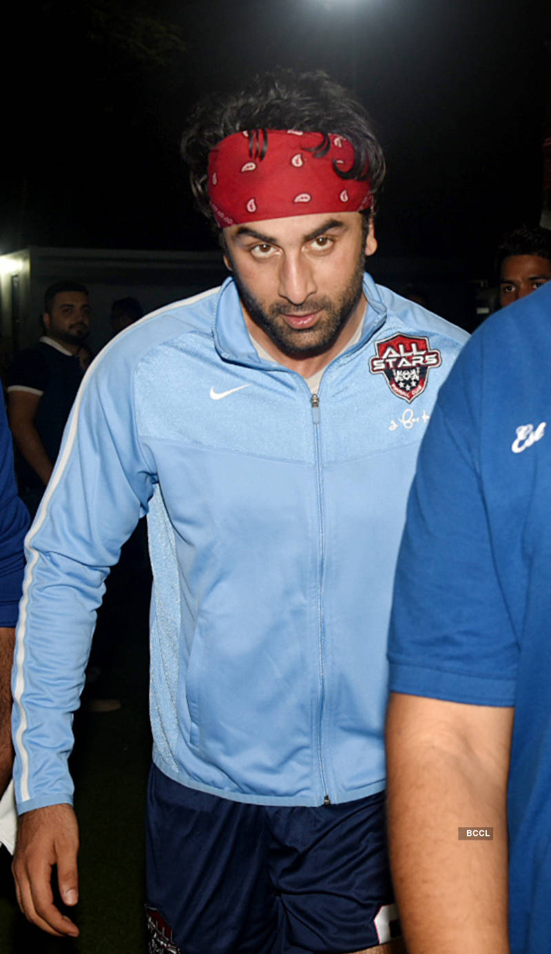 Celebs play football for a cause
