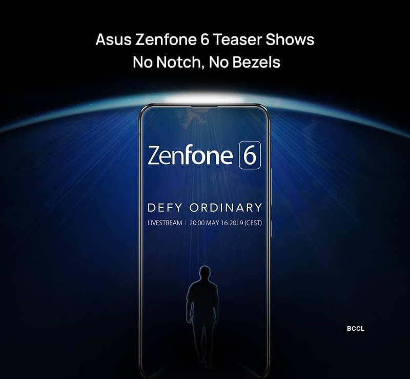 Asus Zenfone 6 may feature notch-less design, pop-up selfie camera