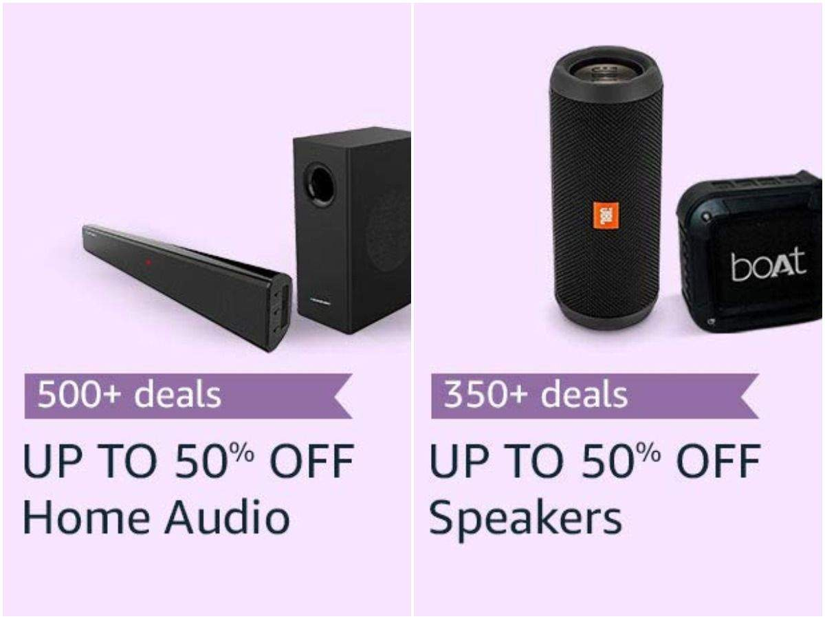 Speakers and home audio products are available at up to 60