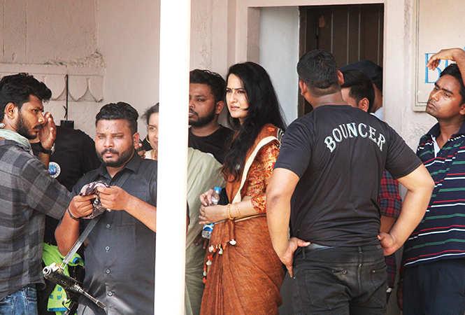 Nabha Natesh shooting for the film in Varanasi  (BCCL/ Arvind Kumar)