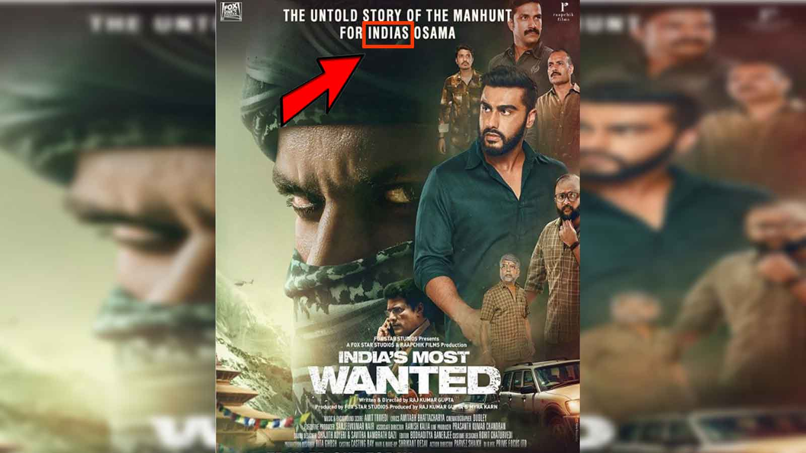 Fans point out typo in Arjun Kapoor's 'India's Most Wanted' poster