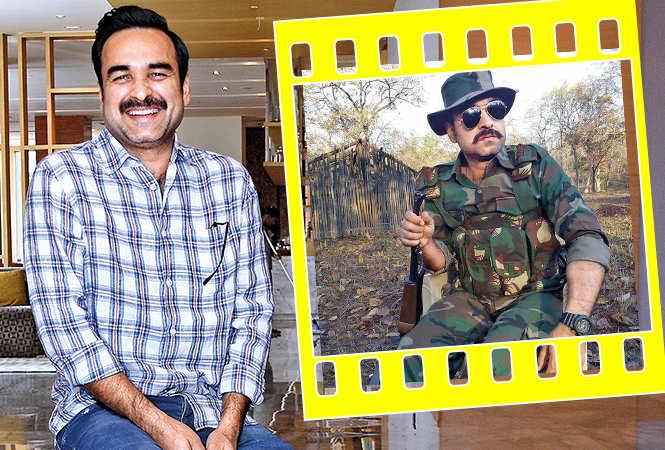 Pankaj Tripathi  while in Lucknow and (inset) as Aatma Singh in Newton (BCCL/ Farhan Ahmad Siddiqui)