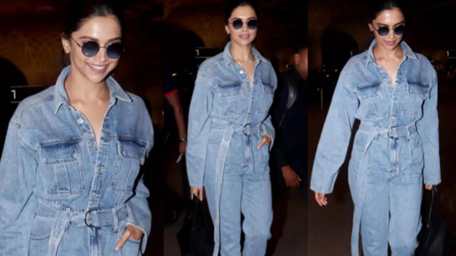 Airport diaries: Deepika Padukone nails denim look, Kriti Sanon looks pretty in lime dress