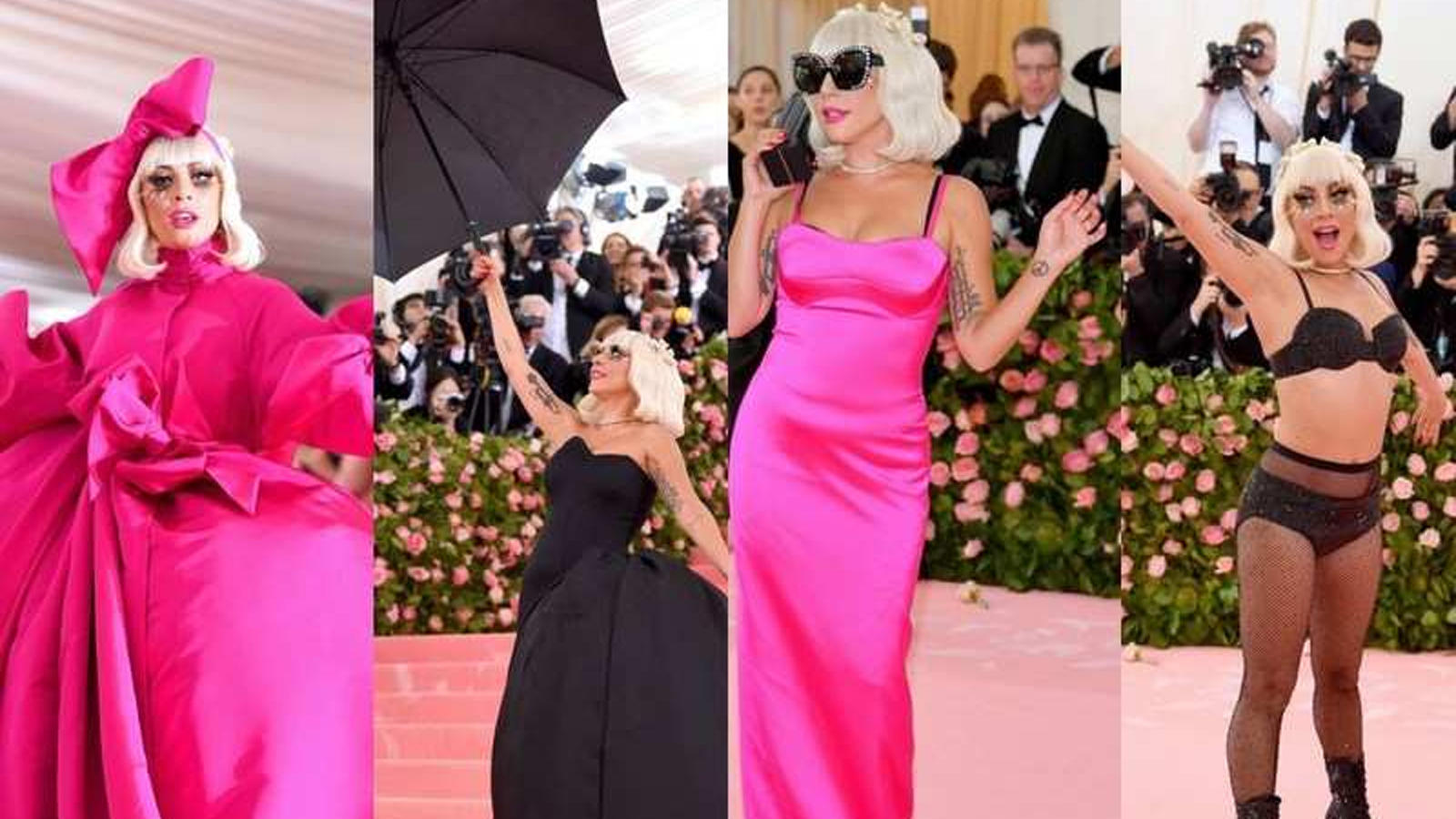 Met Gala 2019: Lady Gaga performs 4 dramatic costume changes on red carpet