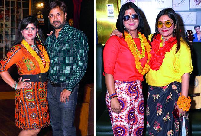 (L) Kanchan Gupta and Nitin Gupta (R) Kritika Saraogi and Shivika Jain (BCCL/ IB Singh)