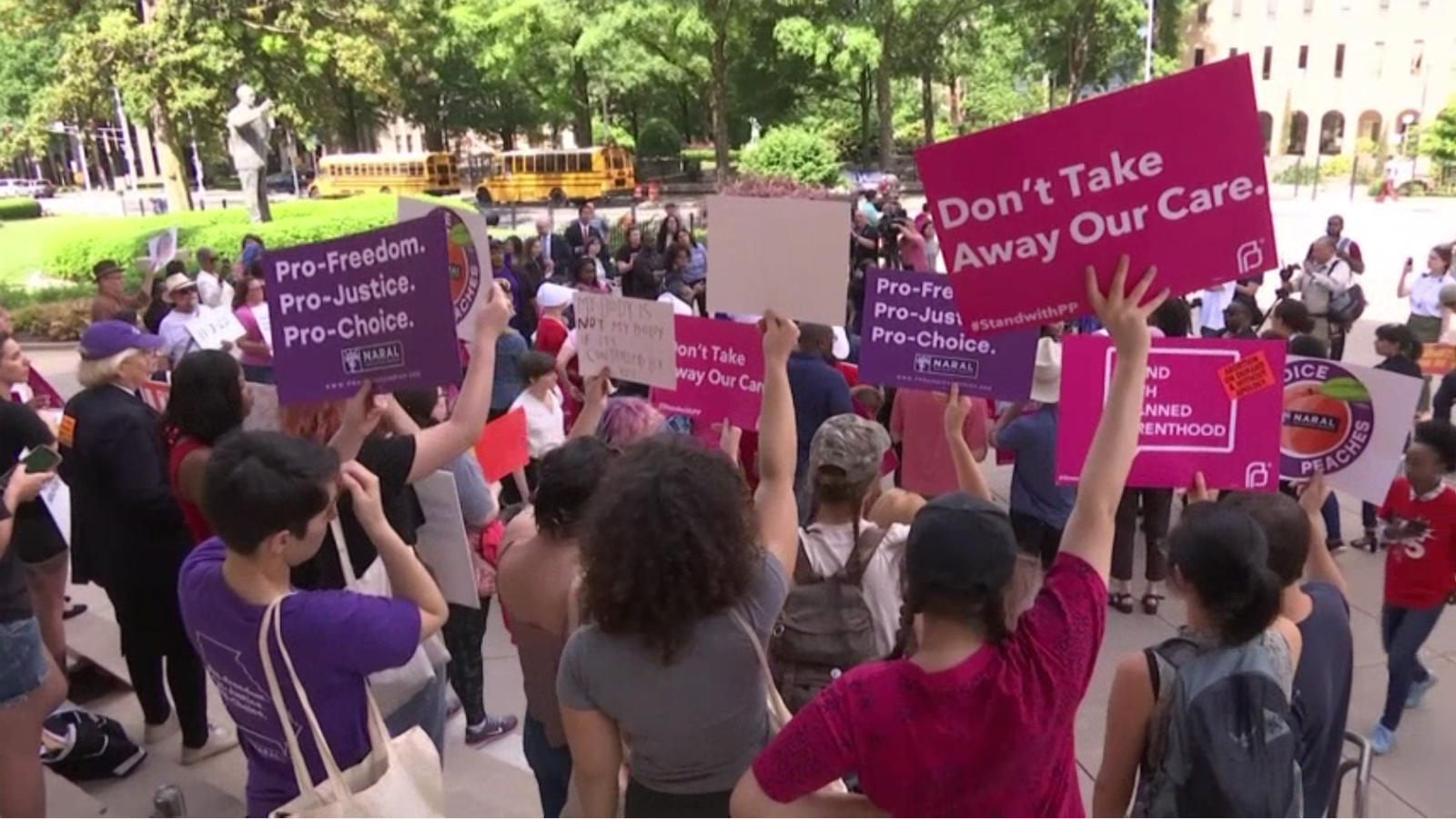 Abortion activists protest Georgia 'heartbeat' law