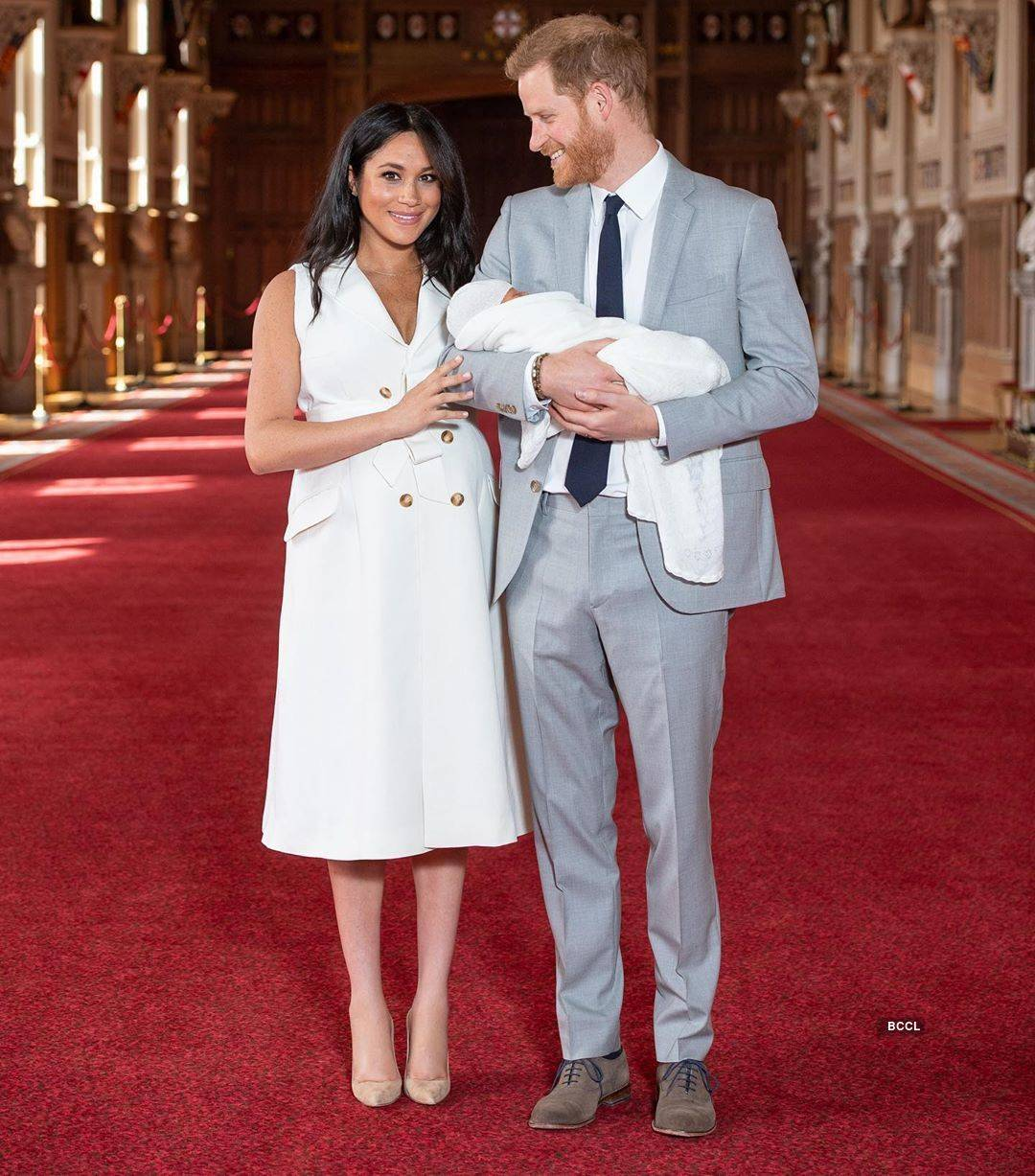 First pictures of Meghan Markle & Prince Harry's baby boy go viral...
