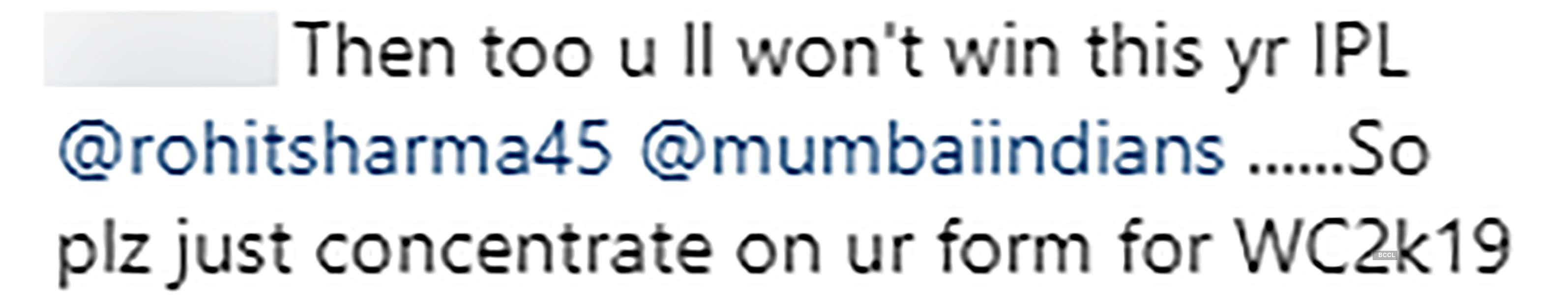 Rohit Sharma got trolled