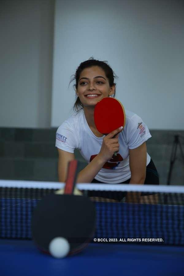 Miss India 2019 finalists at Bennett University: Table Tennis Challenge