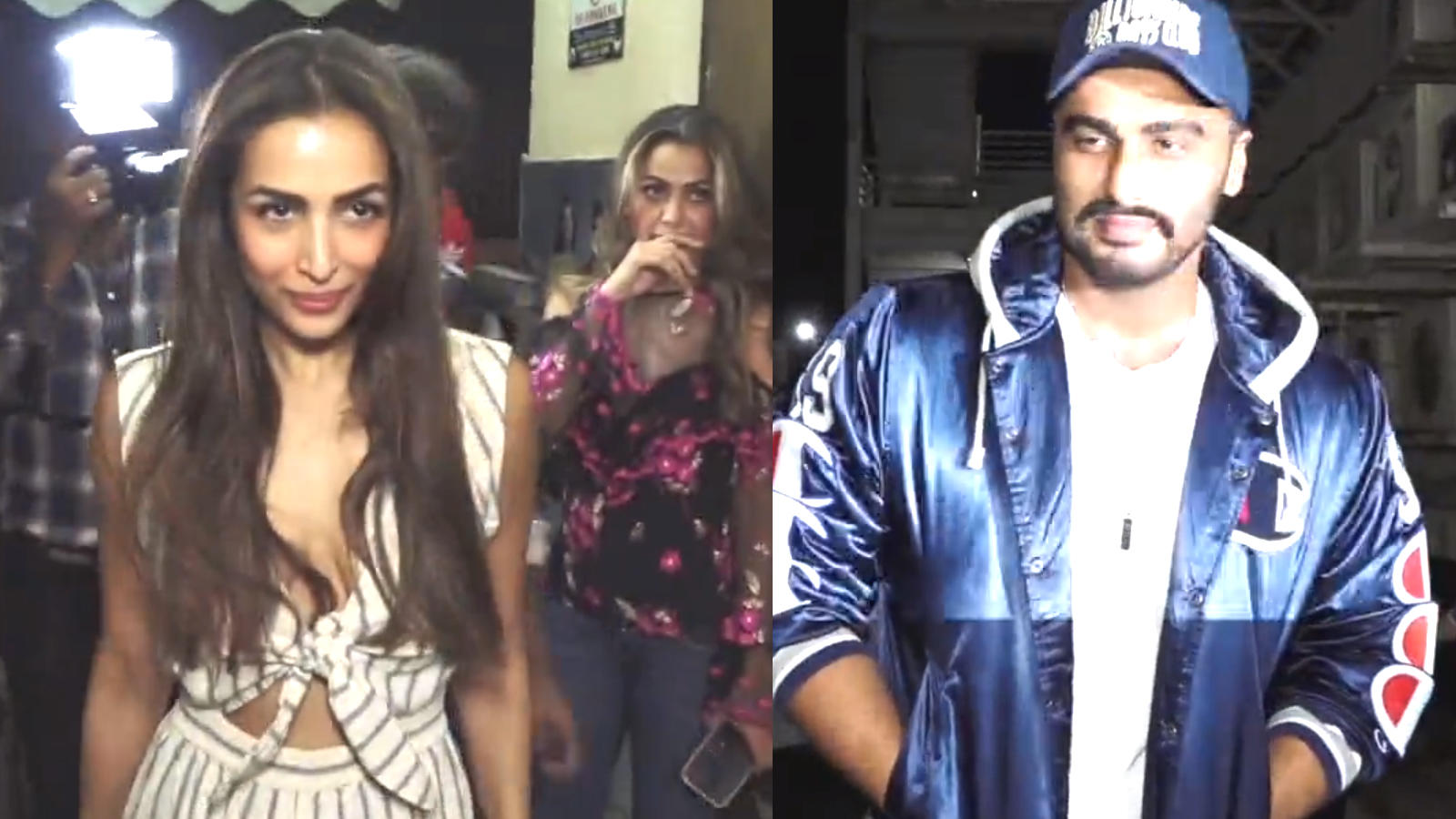 Malaika Arora and Arjun Kapoor arrive separately  for a movie screening