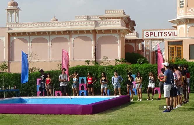 Contestants during the shooting of Splitsvilla 12 in Jaipur