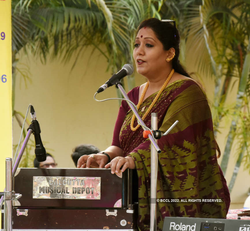 Singers Sidhu and Jayati Chakraborty perform at a launch event