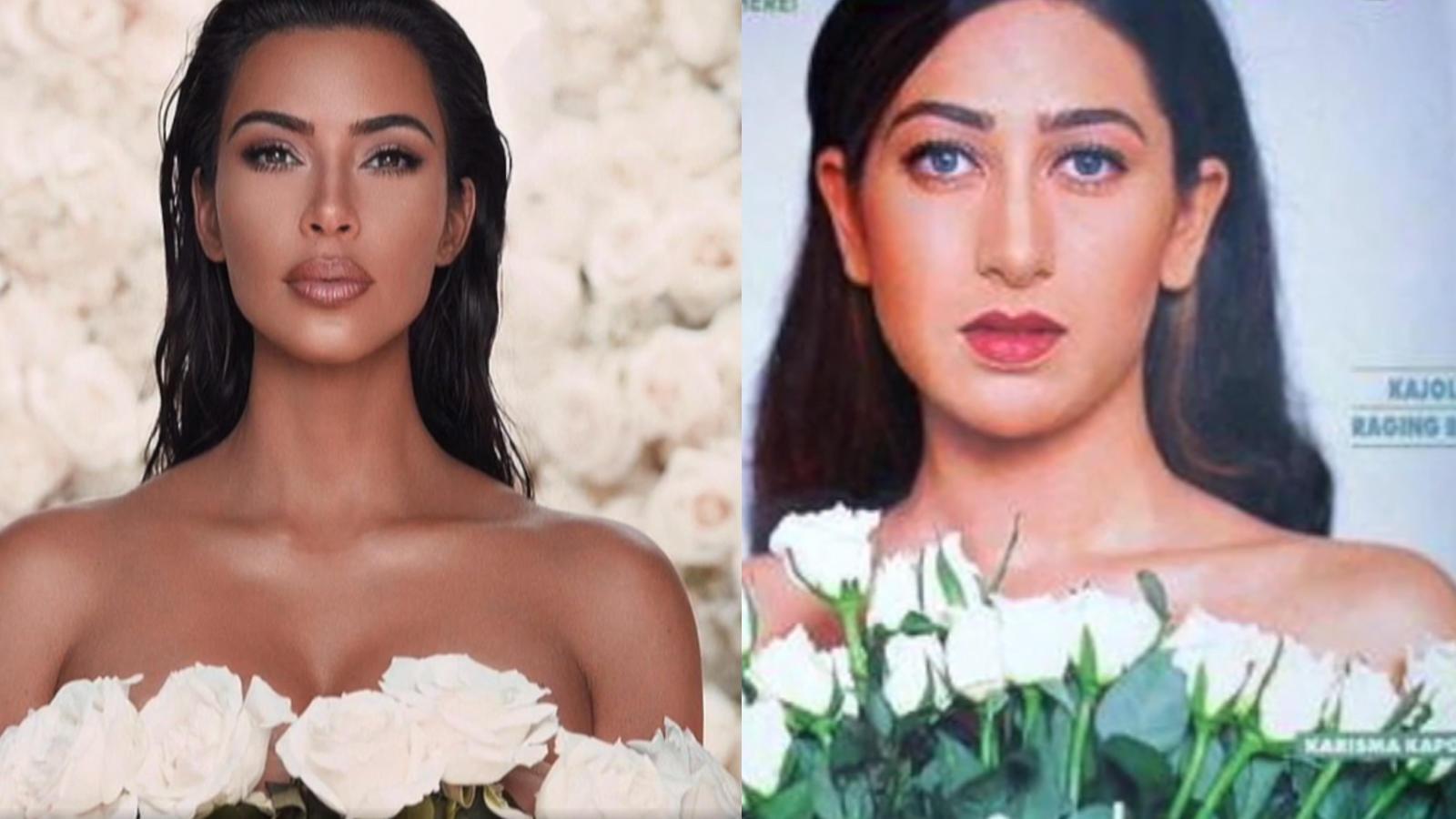 Kim Kardashian copies Karisma Kapoor, latest photoshoot is a proof