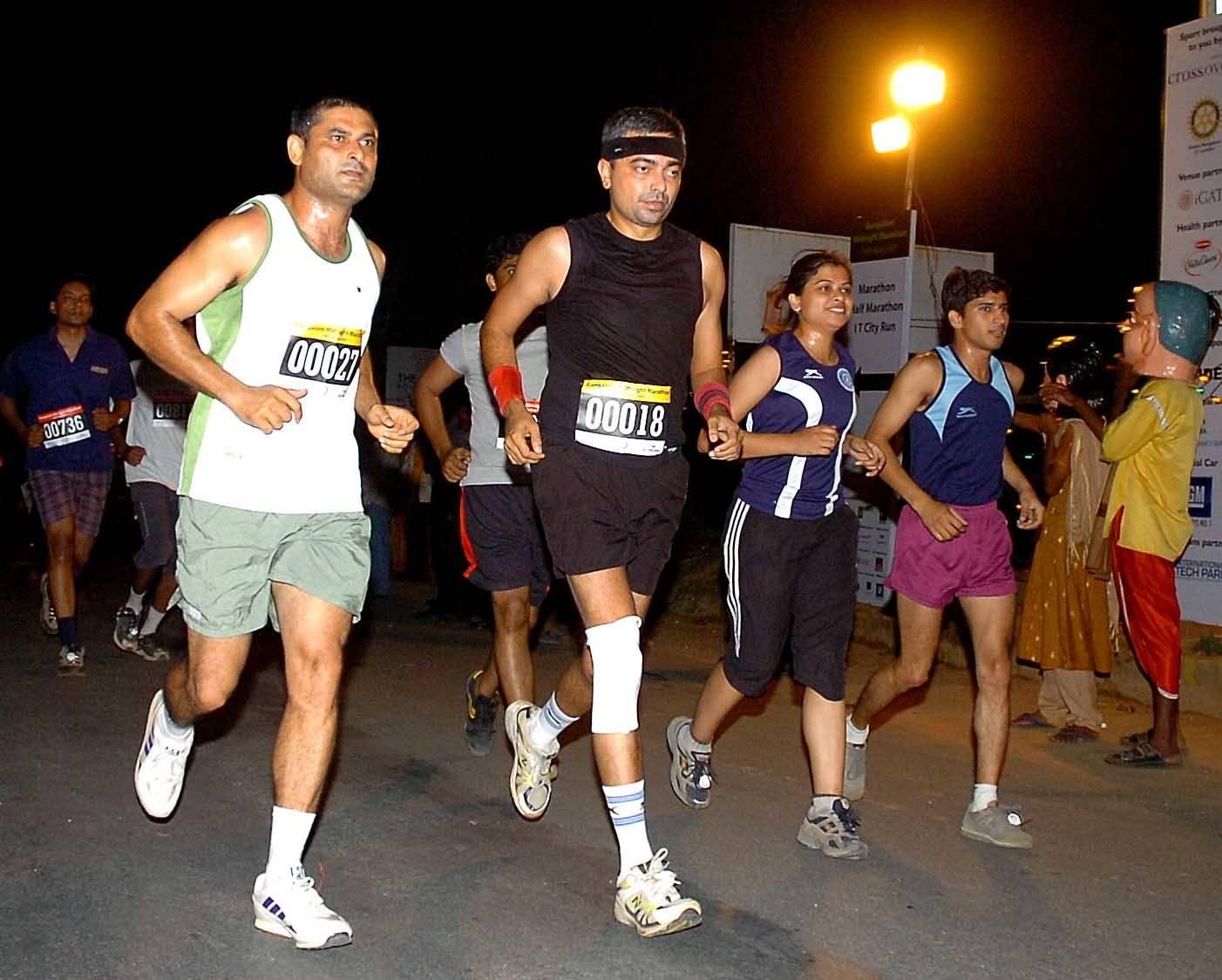 Marathon at night