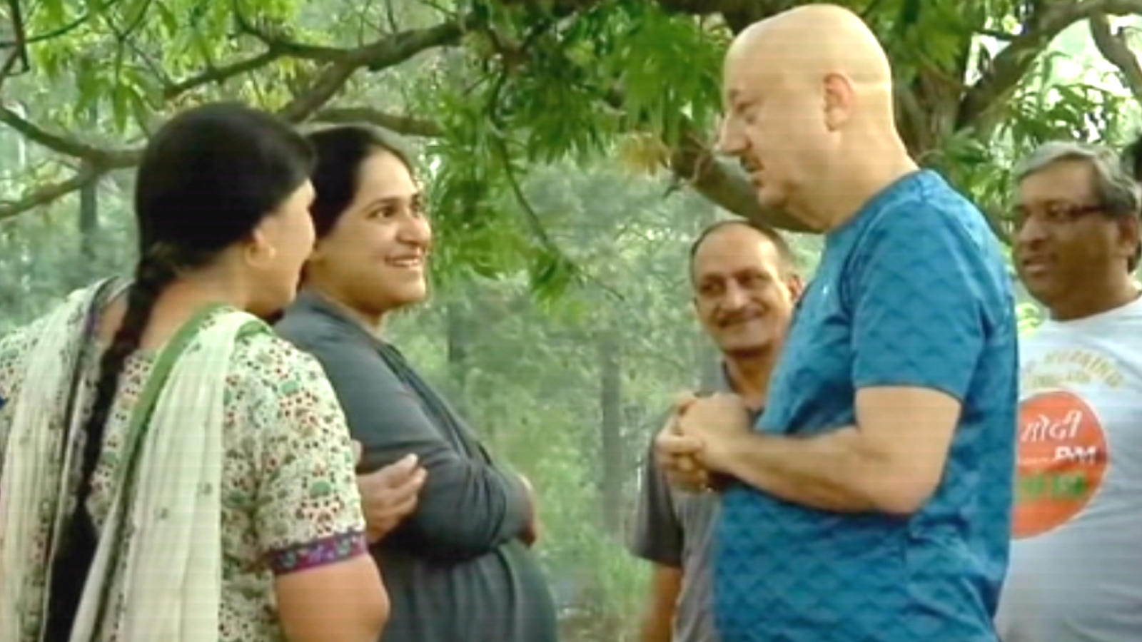Actor Anupam Kher campaigns for wife Kirron Kher in Chandigarh