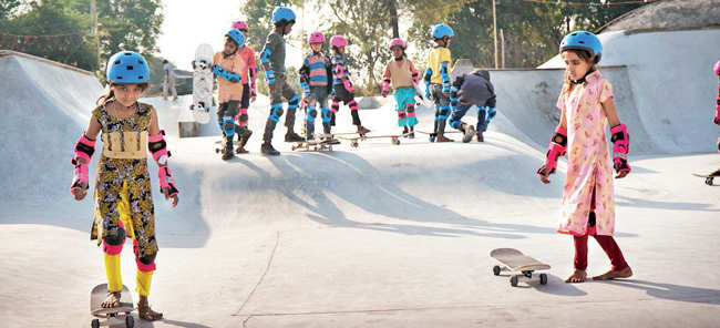 The 14,500 sq ft skate park built by the duo near Udaipur