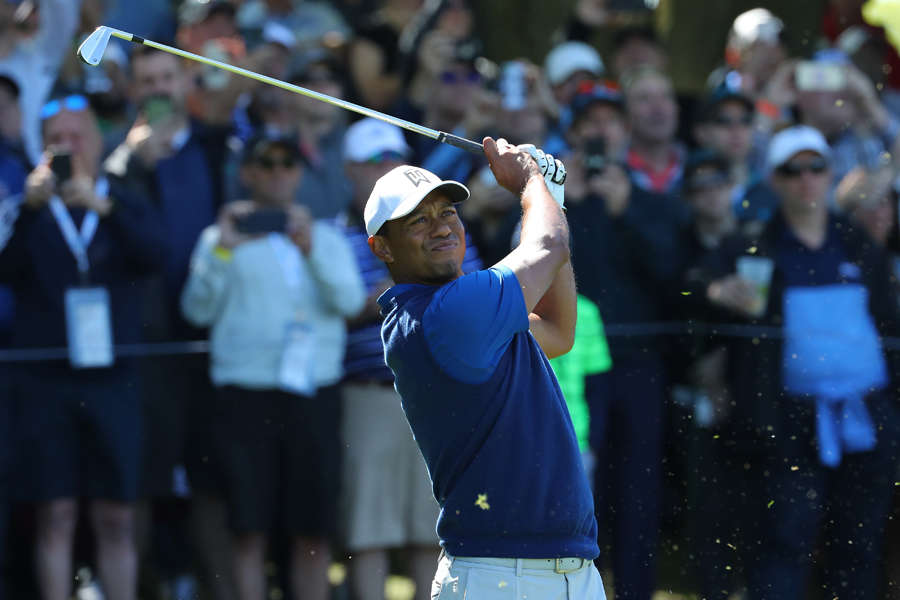 Tiger Woods struggles through PGA Championship