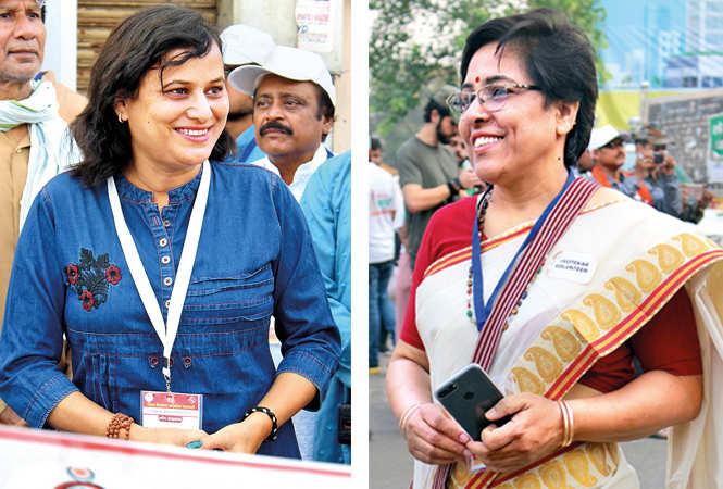(L) Neelu Mishra, athlete, the SVEEP brand ambassador (R) Dr Anita (BCCL/ Arvind Kumar)