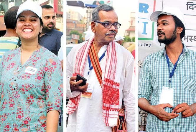 (L) Hina (C) Jagdish Tirpathi (R) Prabhat (BCCL/ Arvind Kumar)