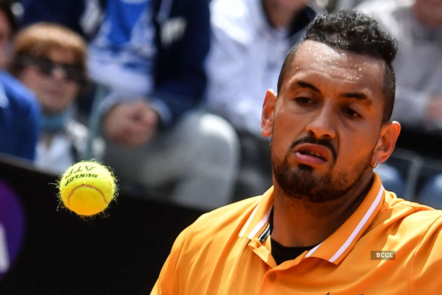 Nick Kyrgios smashes racket, gets suspended