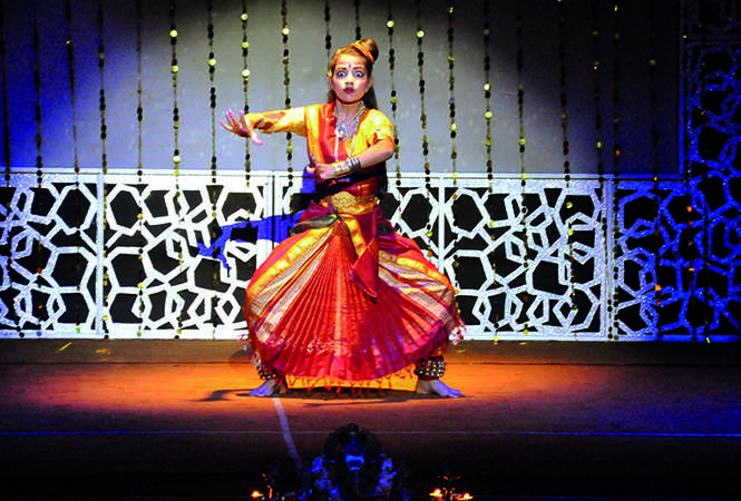 A Kathak dancer performing at the dance festival (BCCL/ AS Rathor)