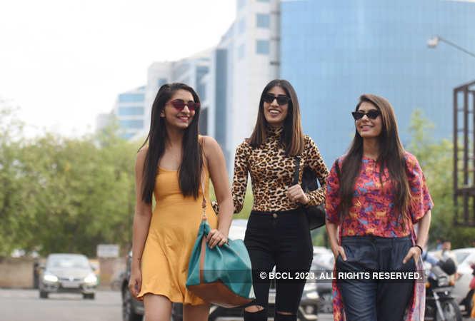 Dhan Shree Rawal, Rajveer Kaur and Ishita Singhanwal flaunt their summer style as they pose for Jaipur Times