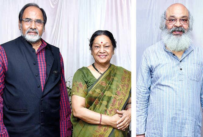 Gopal Sinha & Poornima Pandey  and Surya Mohan Kulshreshtha (BCCL/ Vishnu Jaiswal)