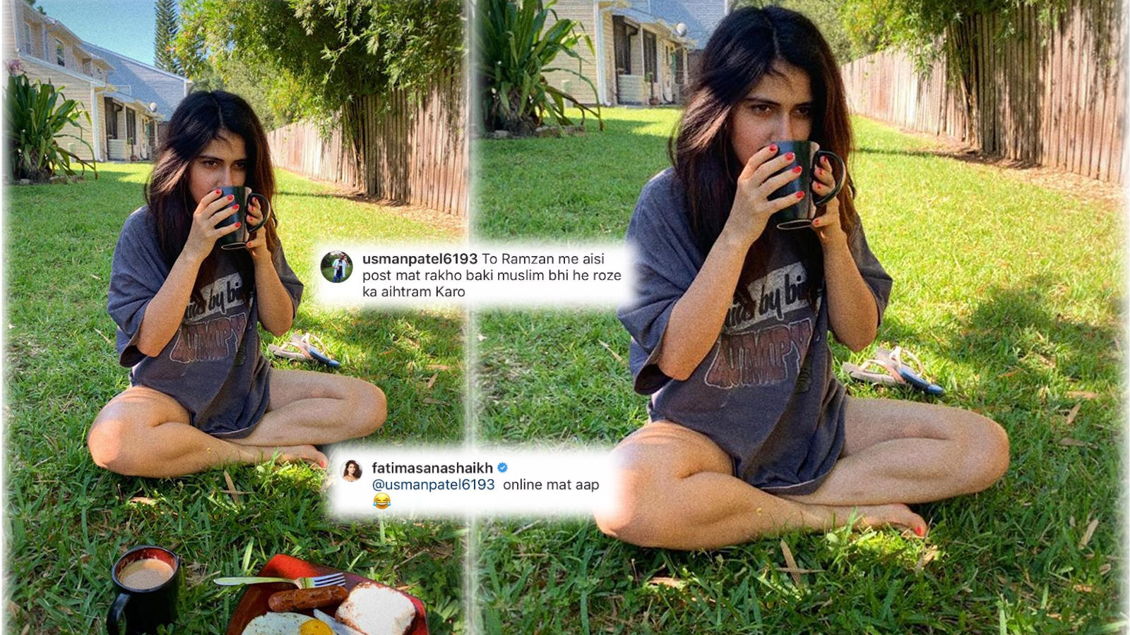 Fatima Sana Shaikh gets trolled for posing with plate of food during Ramzan, actress hits back
