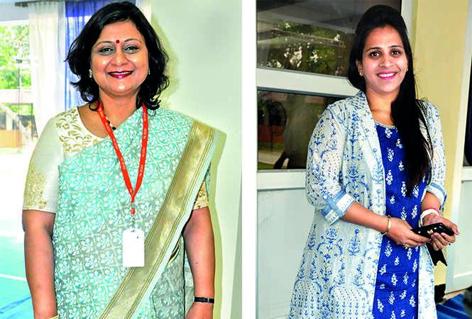 (L) Anjali Agarwal (R) Manisha Chandok (BCCL/ AS Rathor)