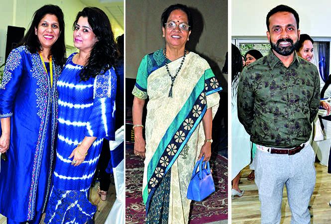 (L) Ankita Gupta and Ritu Lord (C) Anuradha Varshney (R) Lieutenant Commander Santosh Jaiswal  (BCCL/ AS Rathor)