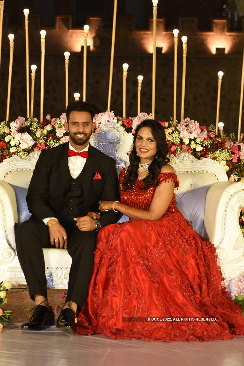 Indian cricketer Hanuma Vihari and Preeti Raj's wedding pictures