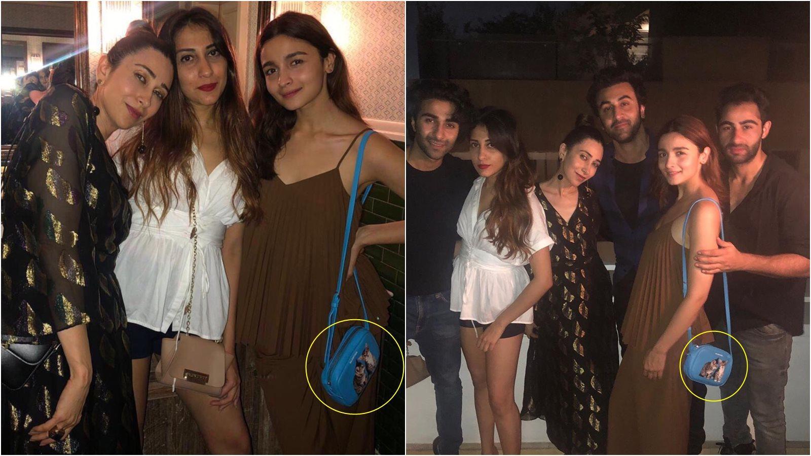 Alia Bhatt parties with Ranbir Kapoor and cousins, flaunts her expensive bag!