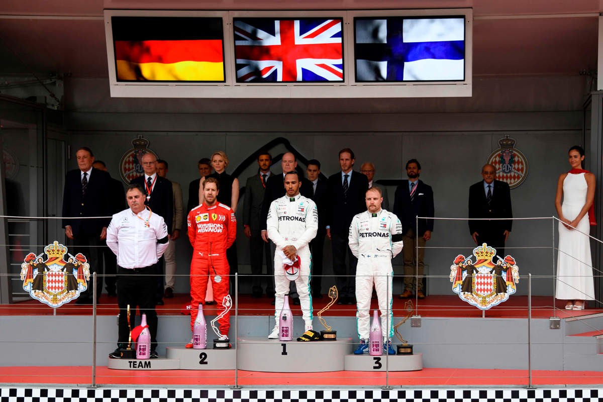 Hamilton wins Monaco GP, Sergio Perez almost runs over track official