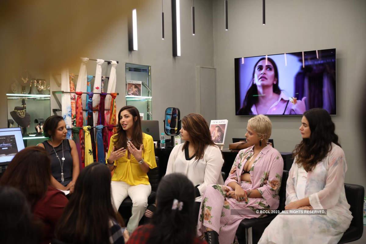 Celebs attend a body positivity workshop